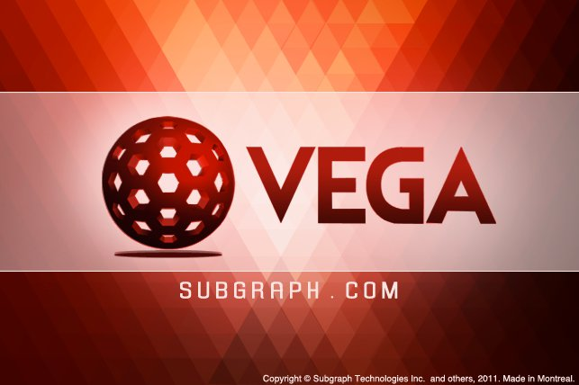 Vega splash screen.